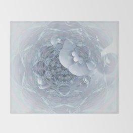 Gothic Wedding Floral Web Mandala Throw Blanket