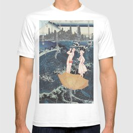 Tourists (After Hokusai) T-shirt