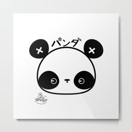 Panda by Indigo East Metal Print
