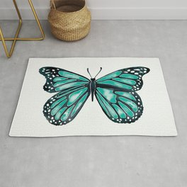 Turquoise Butterfly Rug