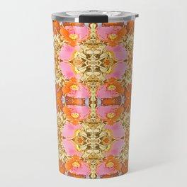 Pink & Orange Poppy 4B Travel Mug