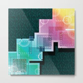 Abstract Tech Metal Print