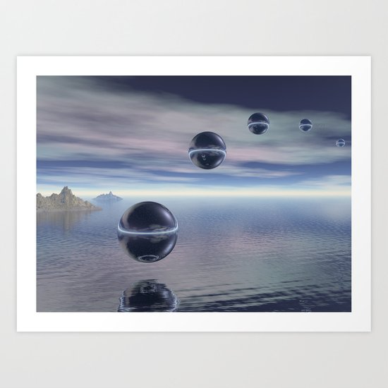 Visitors From Space Art Print