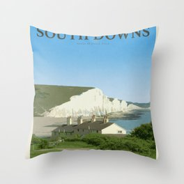 Visit the South downs Throw Pillow