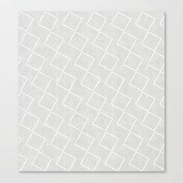 Tilting Diamonds in Grey Canvas Print