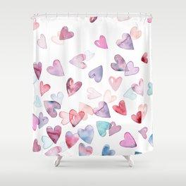 hearts Shower Curtain