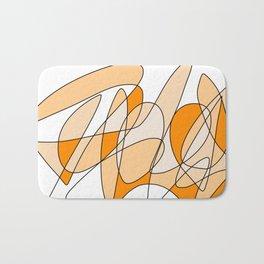 Orange Swirl Bath Mat