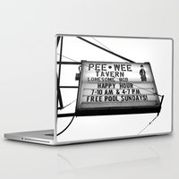pee wee Laptop & iPad Skins featuring Pee Wee tavern sign by Vorona Photography