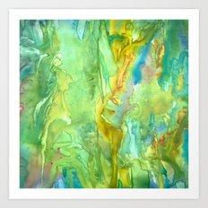 Emerald Seas Art Print