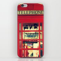 telephone iPhone & iPod Skins featuring Telephone by Irène Sneddon