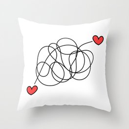 Hearts found each other (no text) Throw Pillow