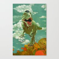 dino Canvas Prints featuring Dino by Edith Waddell