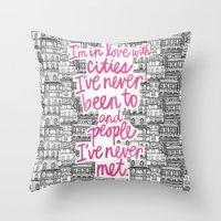 cities Throw Pillows featuring Cities by Raphaella Martelino