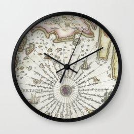 Kaart van de kust van Zweden tussen Kalmar en Stockholm (ca 1580-1583) by Joannes van Doetechum (I) Wall Clock