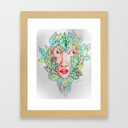 Leafy Framed Art Print