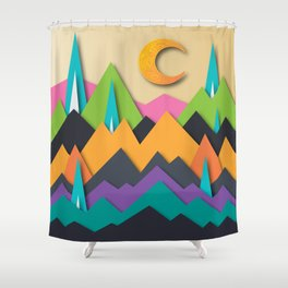 The Glass Mountains Shower Curtain