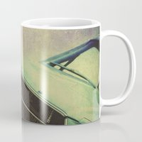 mustang Mugs featuring Galaxy Mustang by Honey Malek