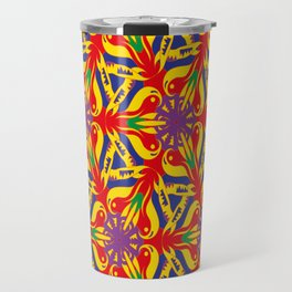 colorful pattern C Travel Mug