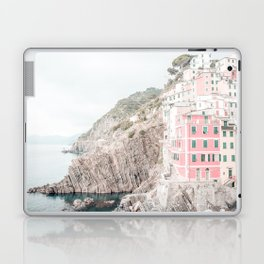 Positano, Italy pink-peach-white travel photography in hd. Laptop & iPad Skin
