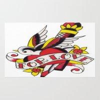 tatoo Area & Throw Rugs featuring Tatoo ART 5  by The Greedy Fox