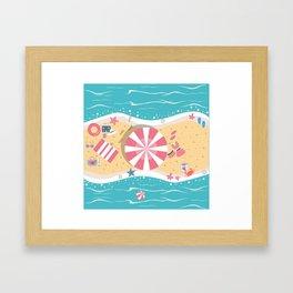 Happy Summer Vacation Framed Art Print