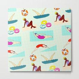 Swimming Sweetly Metal Print