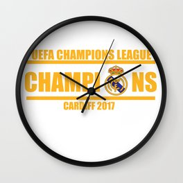 Real Madrid Champions League 2017 Cardiff Wales Wall Clock