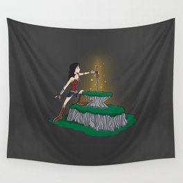 GOD KILLER IN THE STONE Wall Tapestry