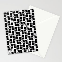 Into the Woods Leaves black Stationery Cards