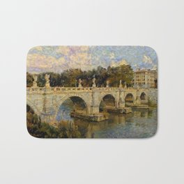 French Impressionistic Arched Bridge Bath Mat