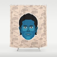 seinfeld Shower Curtains featuring Jerry Seinfeld - Seinfeld by Kuki
