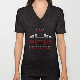 I am Gymaholic Unisex V-Neck