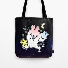naughty halloween bunny ghost Tote Bag