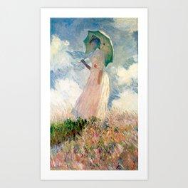Claude Monet's Woman with a Parasol, Study Art Print