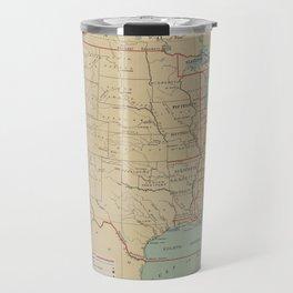 Vintage United States Lighthouse Map (1898) Travel Mug