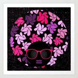 Afro Diva Pink Purple Art Print