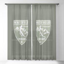 Waitsfield Vermont Sheer Curtain
