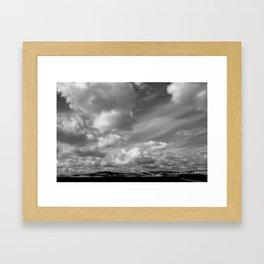 'Valley Clouds' Framed Art Print