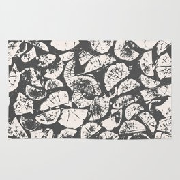 abstract pattern, Firewood texture, tree cut, gray and beige grunge wood background Rug