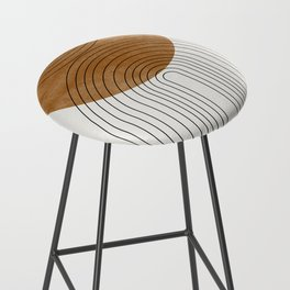 Abstract Flow Bar Stool