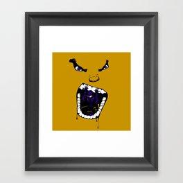 Hungry Hungry Hulk // Yellow Framed Art Print