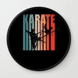 Karate Judo Judoka Taekwondo Ju-Jutsu Kung-Fu 80s Karate Wall Clock
