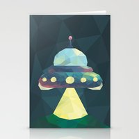 spaceship Stationery Cards featuring Spaceship. by Dani Does Art