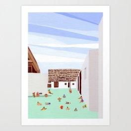 Mexico Pool III Art Print