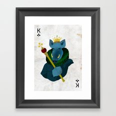THE KING OF CLUBS Framed Art Print