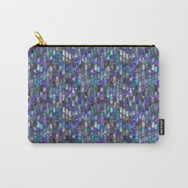 Blue Glass Tile Texture Carry-All Pouch