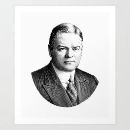 President Herbert Hoover Graphic Art Print