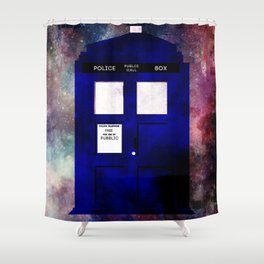 A stain in time and space Shower Curtain