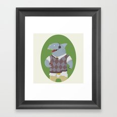 Telesharketer! Framed Art Print