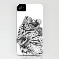 White Tiger Profile iPhone (4, 4s) Slim Case